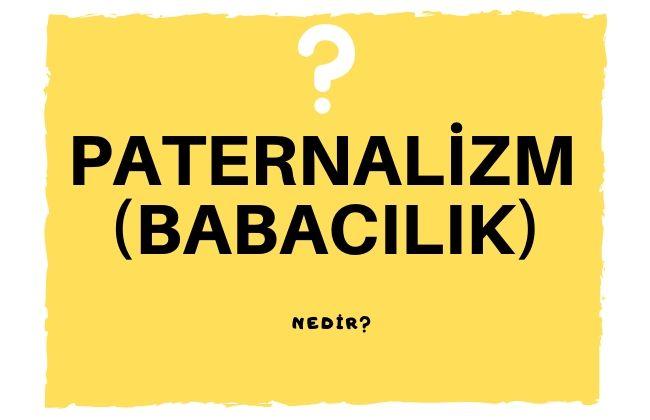 paternalizm babacılık nedir