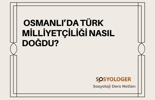türk milliyetciligi nasıl dogdu