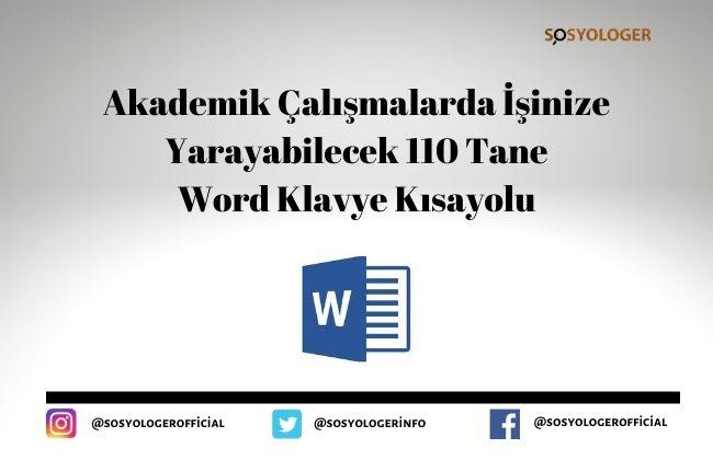 word klavye kisayollari