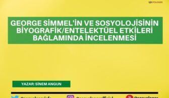 George Simmel'in ve Sosyolojisinin Biyografik/Entelektüel Etkileri Bağlamında İncelenmesi