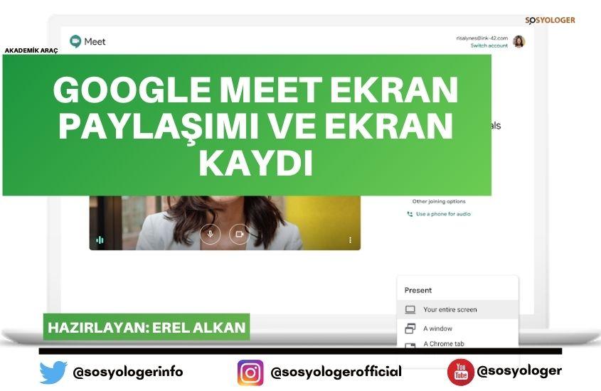 google meet ekran paylasimi