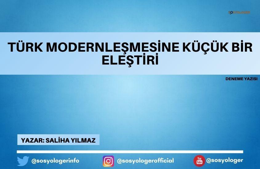 turk modernlesme elestiri