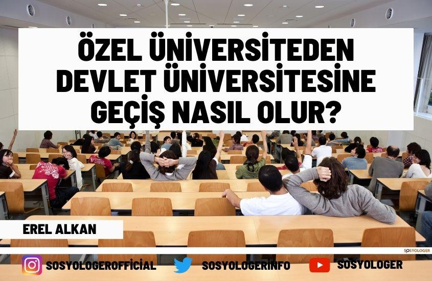 Özel üniversiteden devlet üniversitesine geçiş