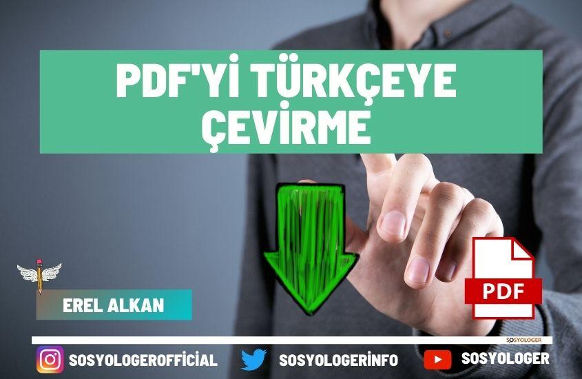 Pdf dosyasını türkçeye çevirme