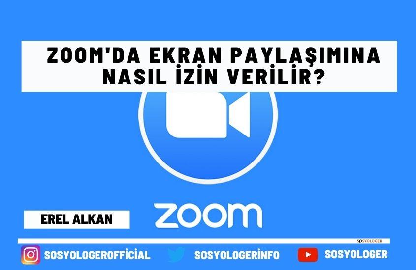 Zoom ekran paylaşımına izin verme